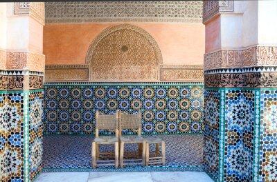 Fototapeta Maroko, Marrakech, foreshortening z Ben Youssef Koranu szkoły