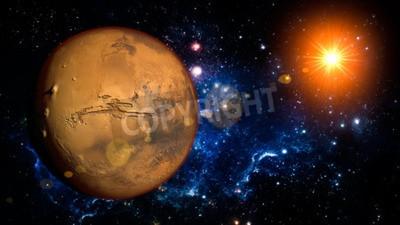 Fototapeta Mars planeta Układu Słonecznego Przestrzeń pojedyncze ilustracji
