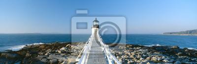 Fototapeta Marshall Point Lighthouse from 1832, Penobscot Bay, Port Clyde, Maine