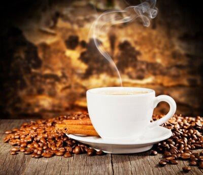 Fototapeta Martwa kawy z wolnego miejsca na tekst