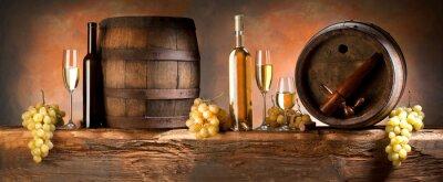 Fototapeta Martwa natura z białego wina