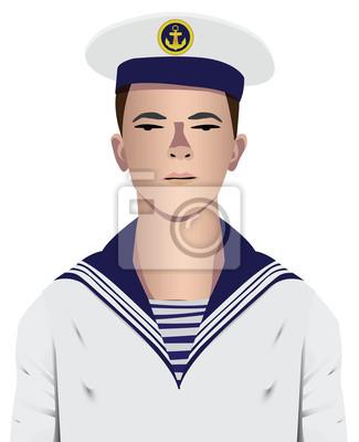 Marynarz wojskowy mundur i kapelusz z