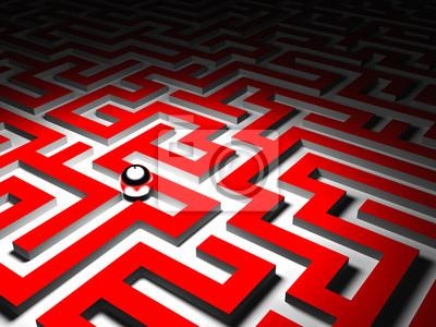 Fototapeta maze background