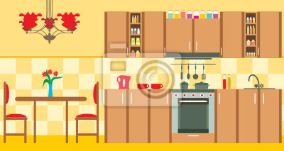 Meble kuchenne. Interior.