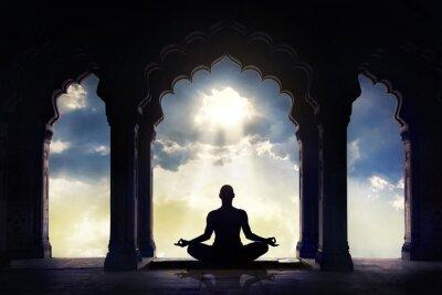 Fototapeta Medytacji w starej świątyni