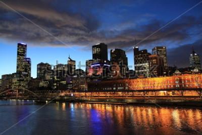Fototapeta Melbourne noc widok Australia