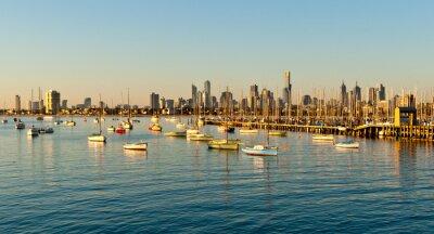 Fototapeta Melbourne Skyline z St Kilda, Victoria, Australia