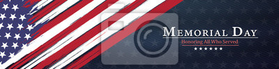 Fototapeta memorial day  background,united states flag, with respect honor and gratitude posters, modern design vector illustration
