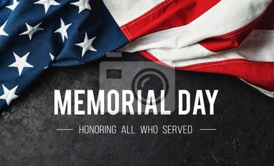 Fototapeta Memorial Day - Honoring All Who Served