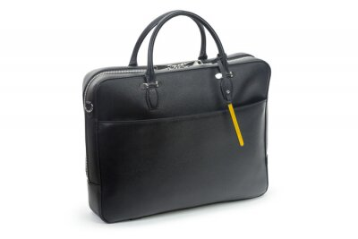 Fototapeta Men's handbag backpack isolated on white background