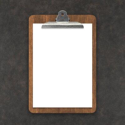 Fototapeta Menu concept , clipboard with blank paper