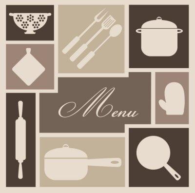 Fototapeta Menu Restaurant_texture