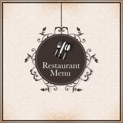 Fototapeta Menu w restauracji