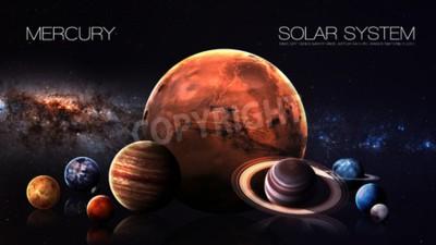 Fototapeta Merkury - rozdzielczości 5K Infografika przedstawia jeden z planety systemu słonecznego.