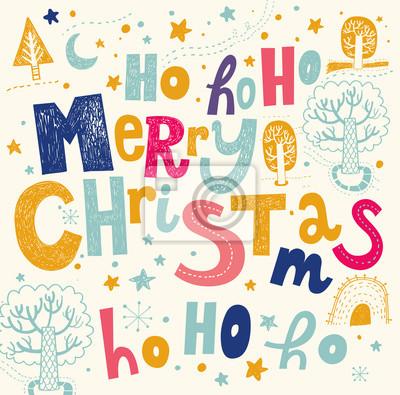 Fototapeta Merry Christmas ilustracji wektorowych