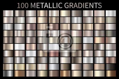 Fototapeta Metaliczny, brązowy, srebrny, złoty, chromowany metaliczny gradient tekstury folii