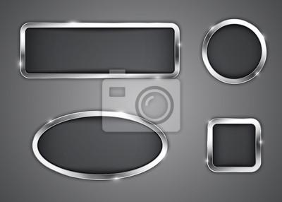 Fototapeta Metalowe przyciski