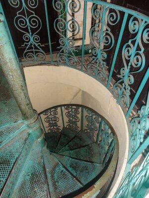 Fototapeta metalowe schody kręcone