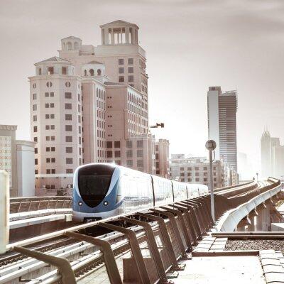 Fototapeta Metro w Dubaju.
