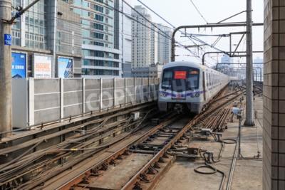 Fototapeta Metro w Szanghaju miasta