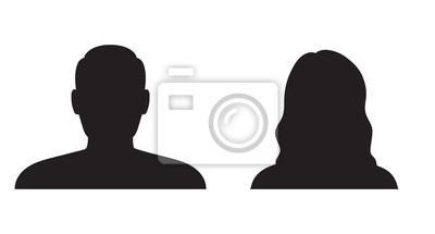 Fototapeta Mężczyzna i kobieta, sylwetka