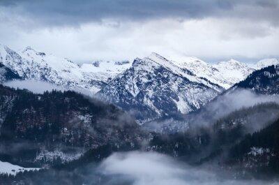 Fototapeta Mgła w zimie Alpy