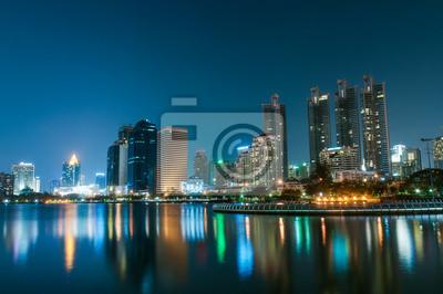 Miasto Bangkok na zmierzchu