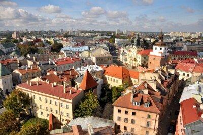 Fototapeta Miasto Lublin, Widok z lotu ptaka