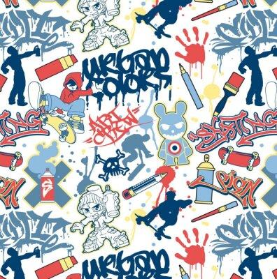 Fototapeta miejskich graffiti elementów szwu wektor