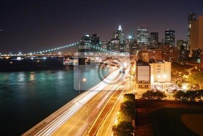 Miejskie New York City night view