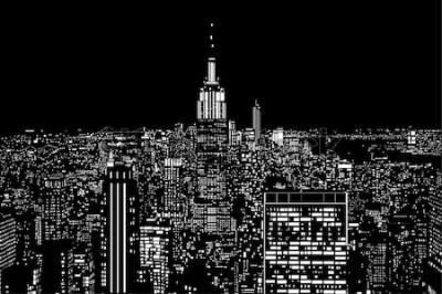 Fototapeta miejskie światła