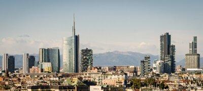 Fototapeta Milano (Włochy), z nową panoramę wieżowców