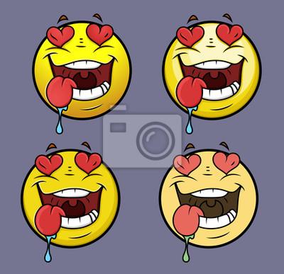 43b530f4f8 Fototapeta Miłość Struck Emoji Smiley Emotikon na wymiar ...