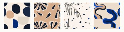 Fototapeta Minimalist contemporary trendy abstract pattern set. Fashionable template for design. Modern style.