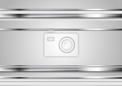 Fototapeta Minimalna streszczenie technologii metaliczne tło wektor
