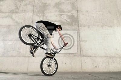 Fototapeta Młody rider rower BMX