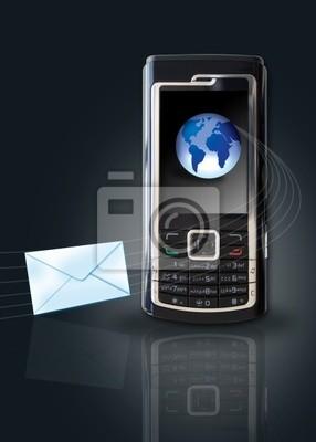 Fototapeta mobile koncepcja email