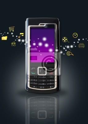 Fototapeta mobile koncepcji technologii