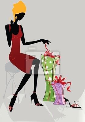 Moda dziewczyna z darami