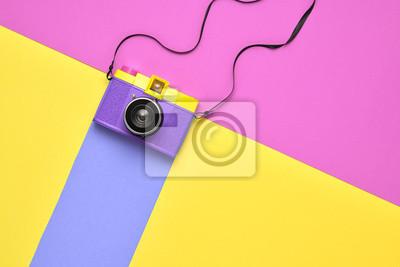 Fototapeta Moda Film Camera. Styl Pop Art. Minimalny