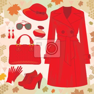 Moda jesień ustaw. wektor, bez szoku