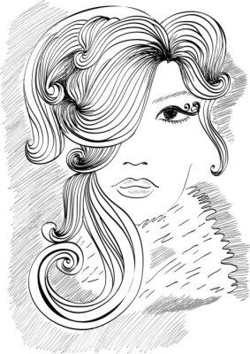 Fototapeta Moda piękne dziewczyny z modnej fryzury.