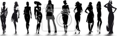 Fototapeta mode - sylwetki de femme
