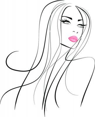 Fototapeta Modelka makijaż piękno ikona