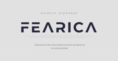 Fototapeta Modern alphabet fonts. Typography, Technology, Lettering, Elegant, Fashion, Designs, Serif fonts, Uppercase. Vector illustration