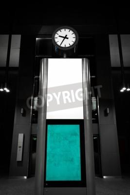 Fototapeta modern analog clock is a subway station