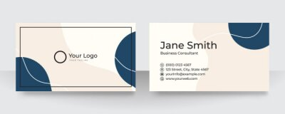 Fototapeta Modern blue and white business card design. Modern business card template red black colors. Flat design vector abstract creative - Vector