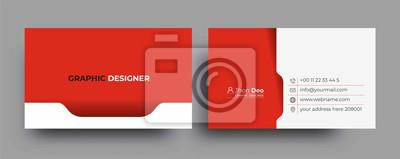 Fototapeta Modern Business Card - Creative and Clean Business Card Template.