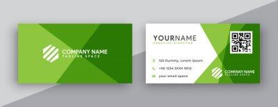 Fototapeta modern business card design . double sided business card design template . flat gradation business card inspiration