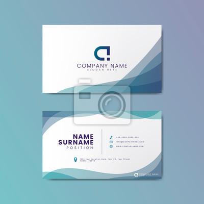 Fototapeta Modern geometric business card design